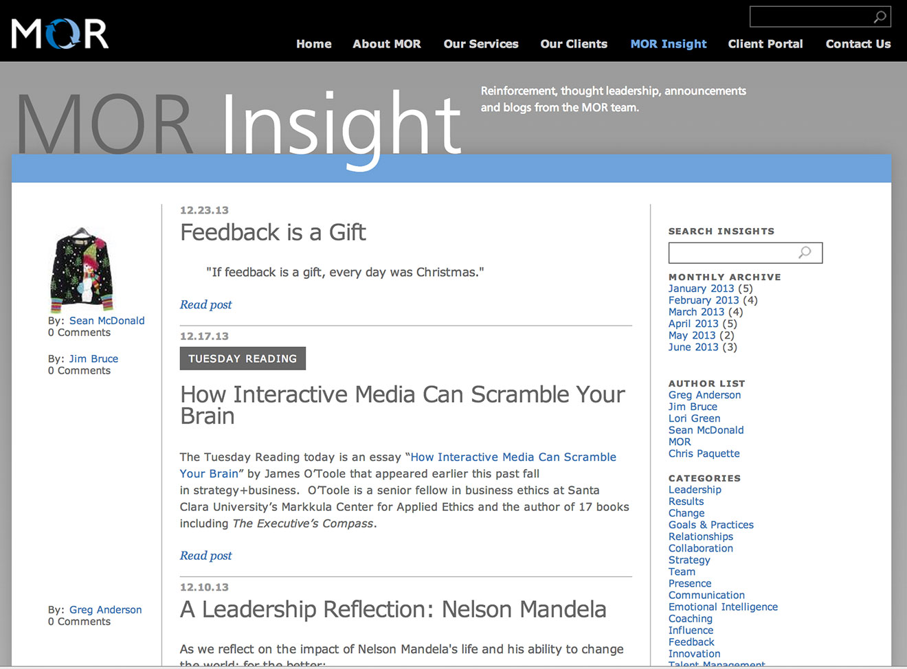 MOR insight section
